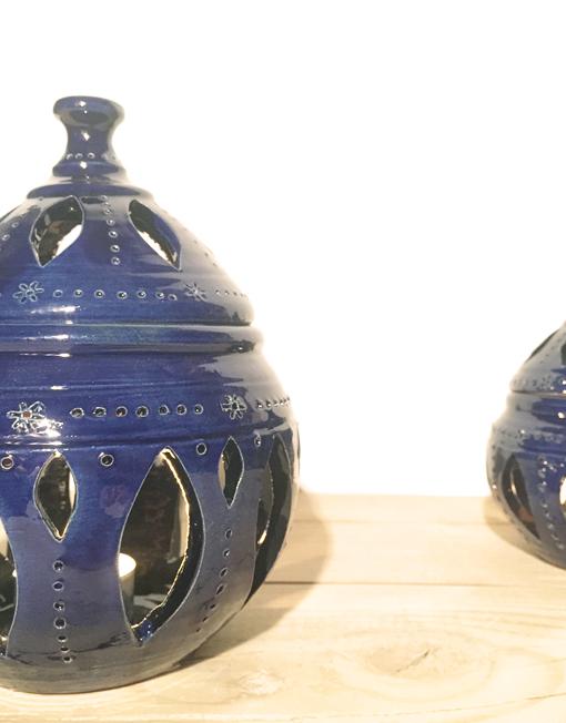 Farolillo mediano color azul