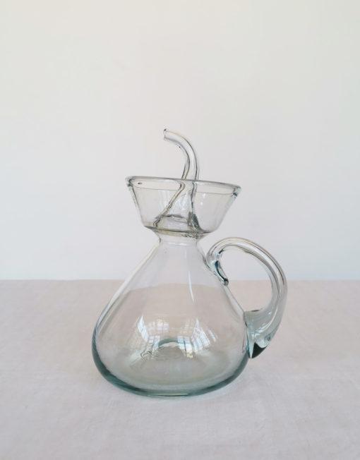 setrillera artesanal de vidre bufat transparent   Bon Vent