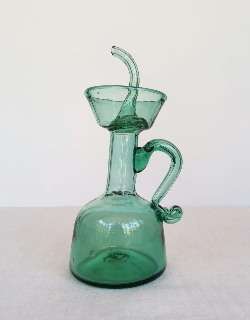 Setrillera mallorquina de vidre bufat verda | Bon Vent