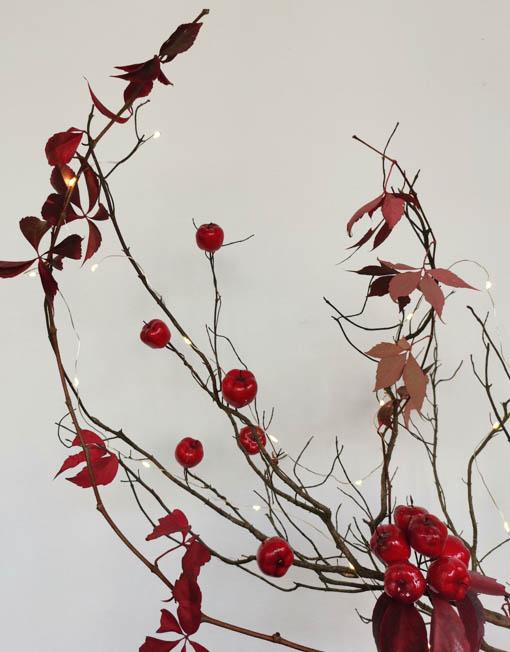 manzanas rojas decorativas árbol de navidad