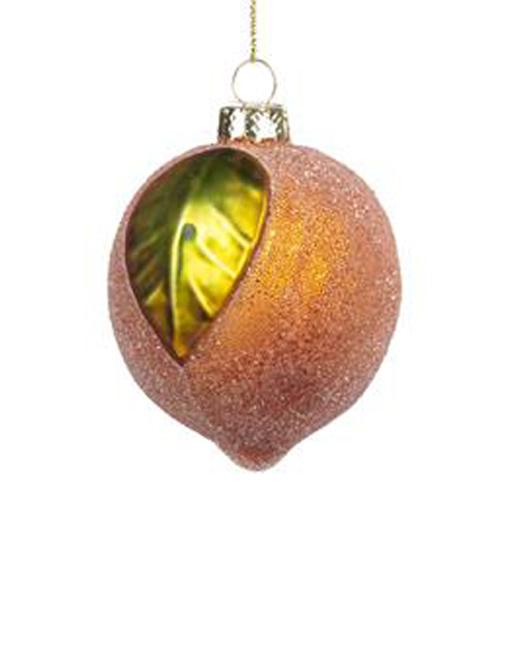 naranja Bola vidrio vintage árbol de navidad