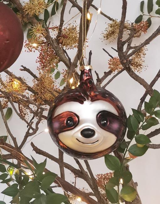 oso perezoso Bola vidrio vintage árbol de navidad