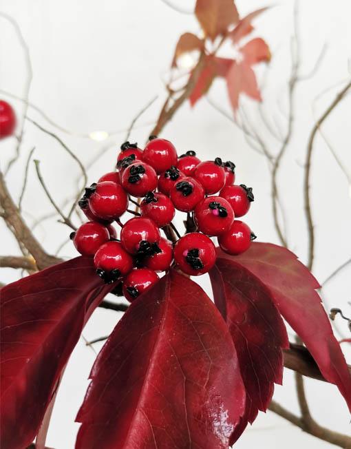 ramita frutos del bosque árbol de navidad