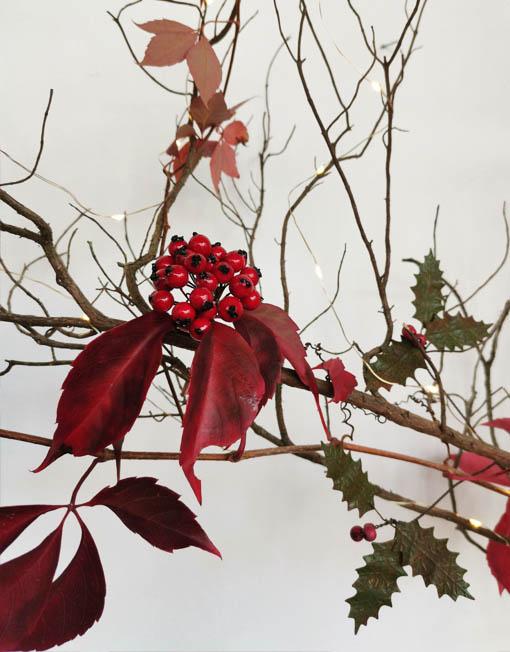 ramito de frutos del bosque árbol de navidad