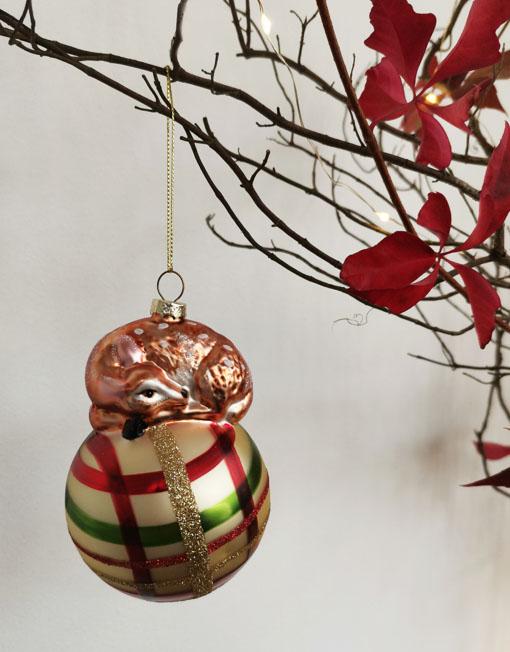 cervatillo Bola vidrio vintage árbol de navidad