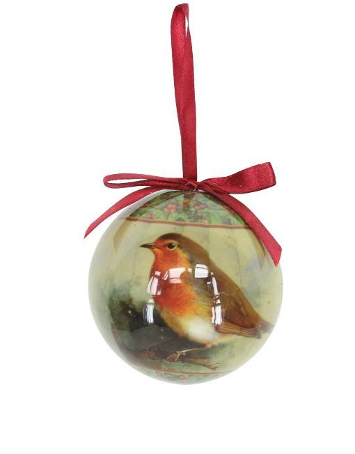 Decoración árbol de navidad bola con pajaro