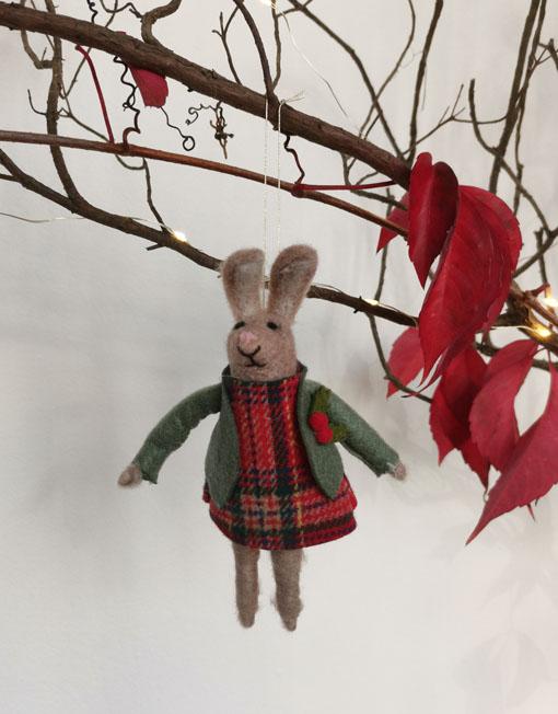 conejo fieltro árbol de navidad