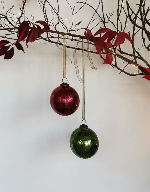 Bola vidrio tallado vintage árbol de navidad