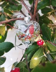 Bola vidrio vintage árbol de navidad