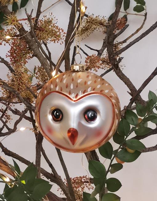 buho Bola vidrio vintage árbol de navidad