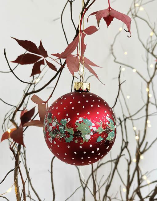Bola vidrio decorada vintage árbol de navidad