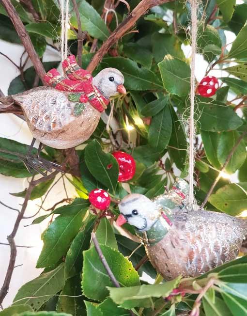pájaro vintage árbol de navidad
