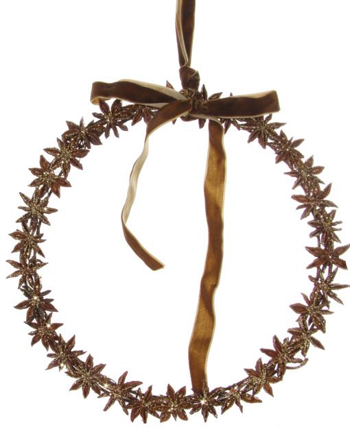Star anise wreath
