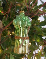 espárragos vidrio elemento decorativo árbol de navidad