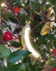 plátano vidrio elemento decorativo árbol de navidad
