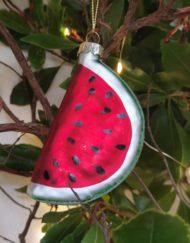 sandía vidrio elemento decorativo árbol de navidad
