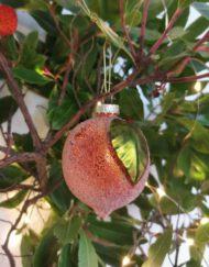 naranja vidrio elemento decorativo árbol de navidad