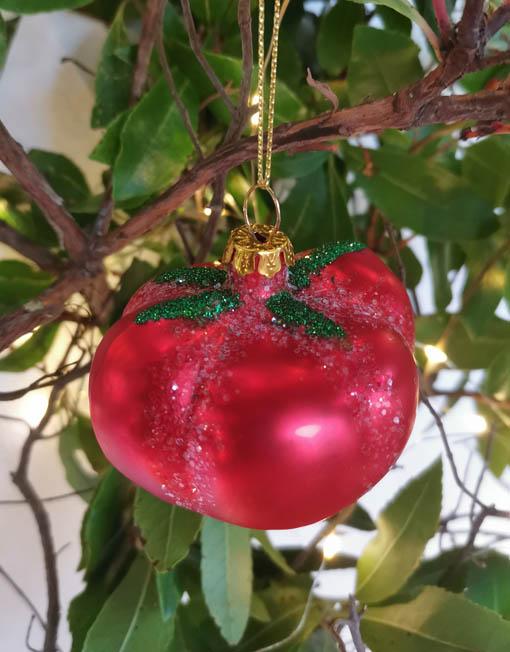 tomate vidrio elemento decorativo árbol de navidad