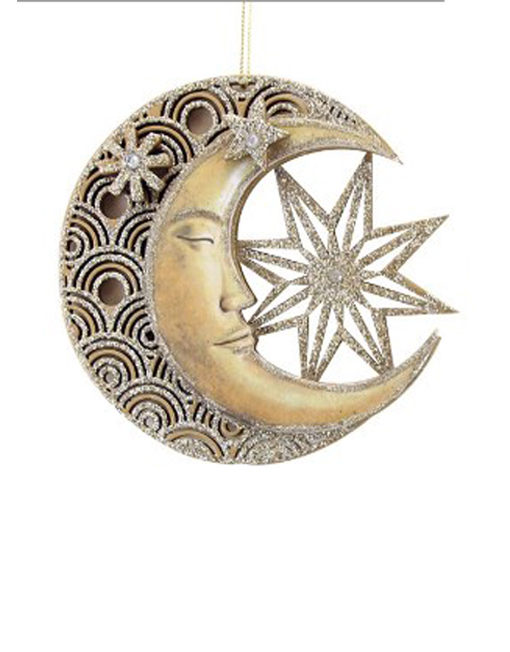 luna y estrella madera troquelada decoración navidad