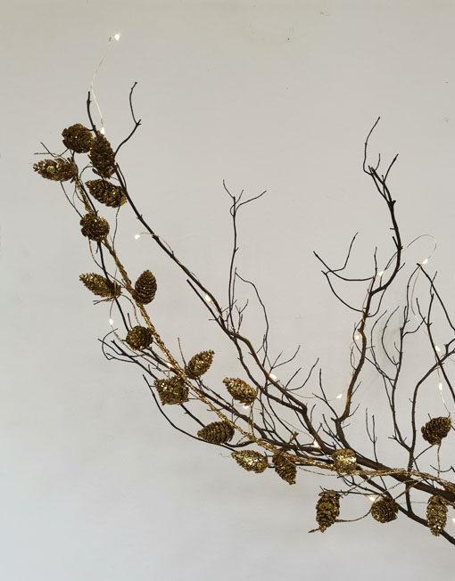 Glitter pine cone garland