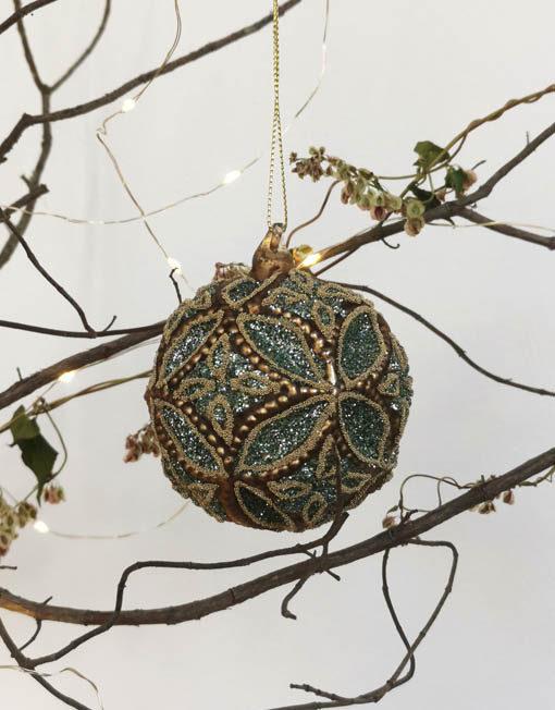 bola joya turquesa navidad