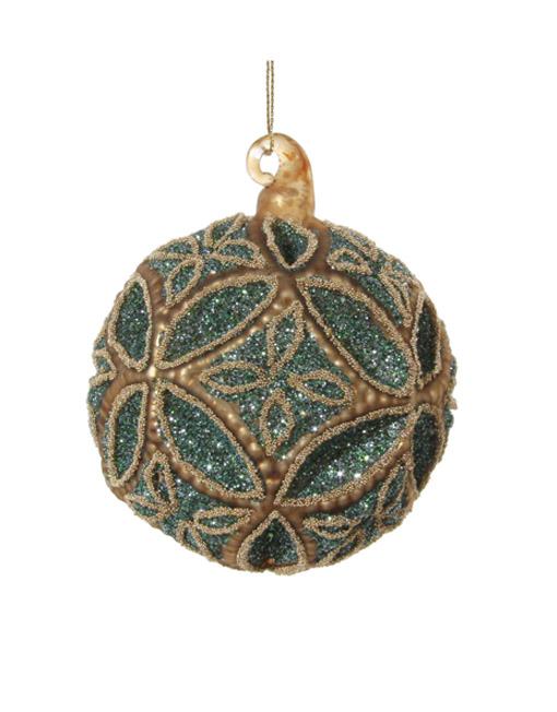 Turquoise jewel ball. Christmas ornament