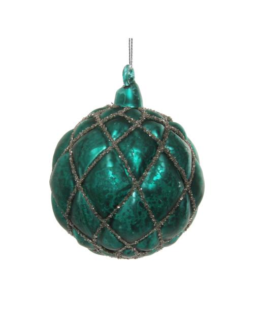 Dark turquoise ball. Christmas ornament