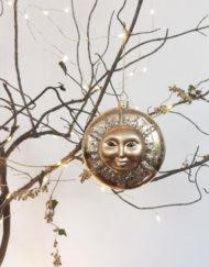 medalla sol árbol navidad